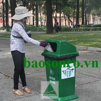 Thùng rác công cộng 95 lít