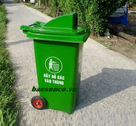 Thùng rác 120 lít nắp hở