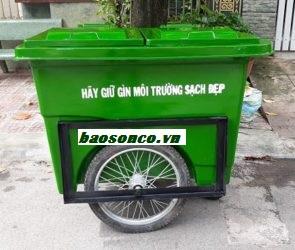 Xe rác 660 lít 3 bánh hơi