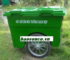 Xe thu gom rác 1000 lít 3 bánh hơi