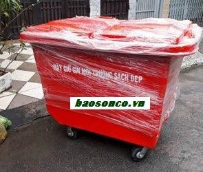 Xe thu gom rác thải nhựa composite