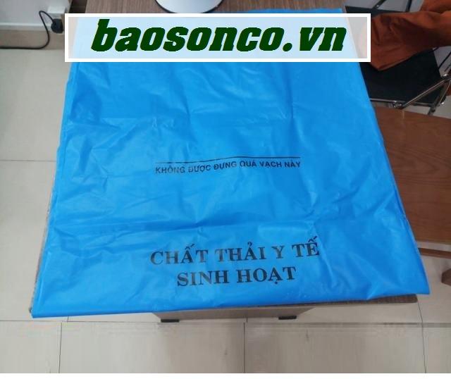 Túi rác y tế màu xanh dương