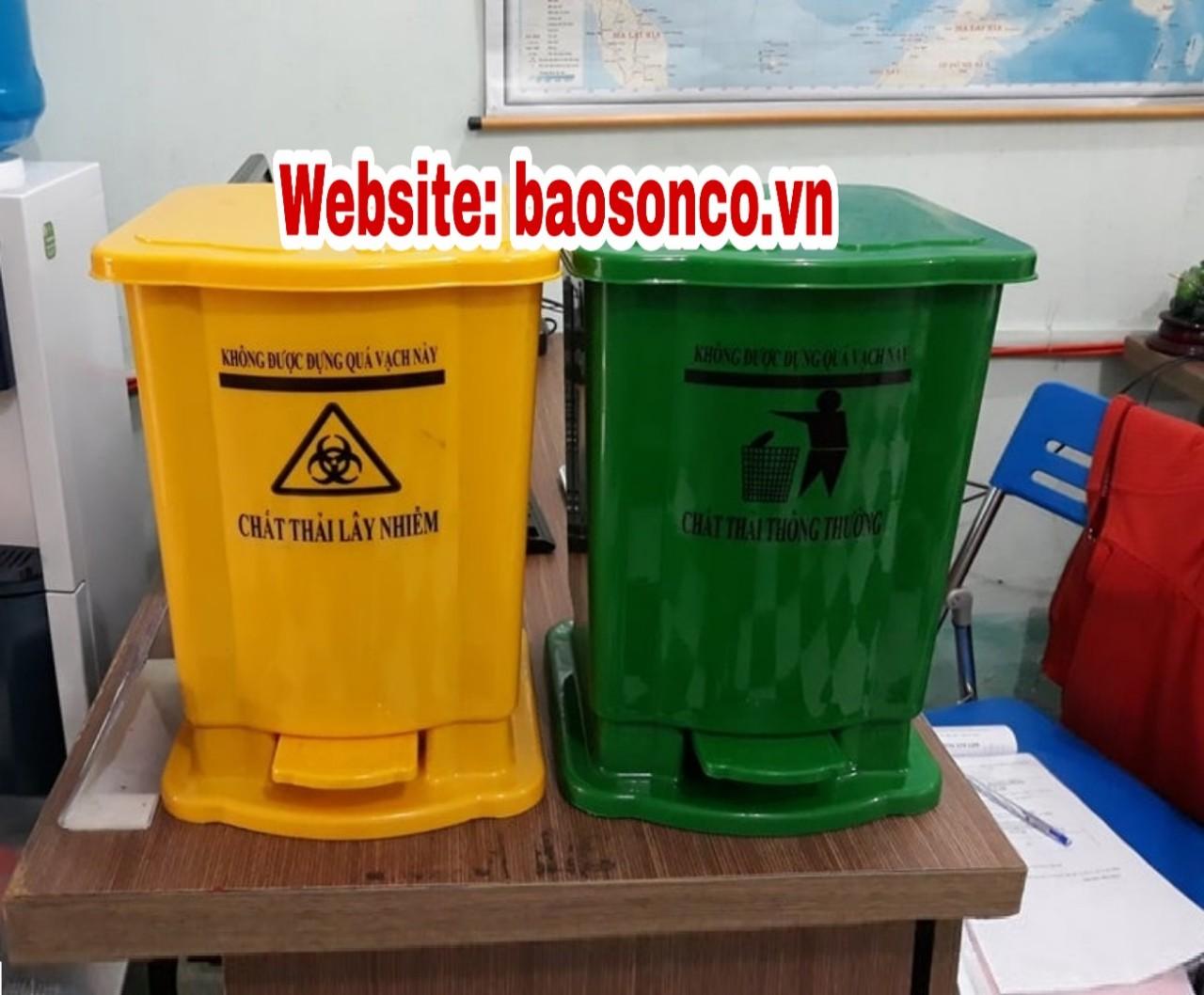 Thùng rác y tế 15 lít màu vàng
