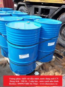 Phuy xanh nắp kín 200 lit- Cty CN&DV bảo sơn