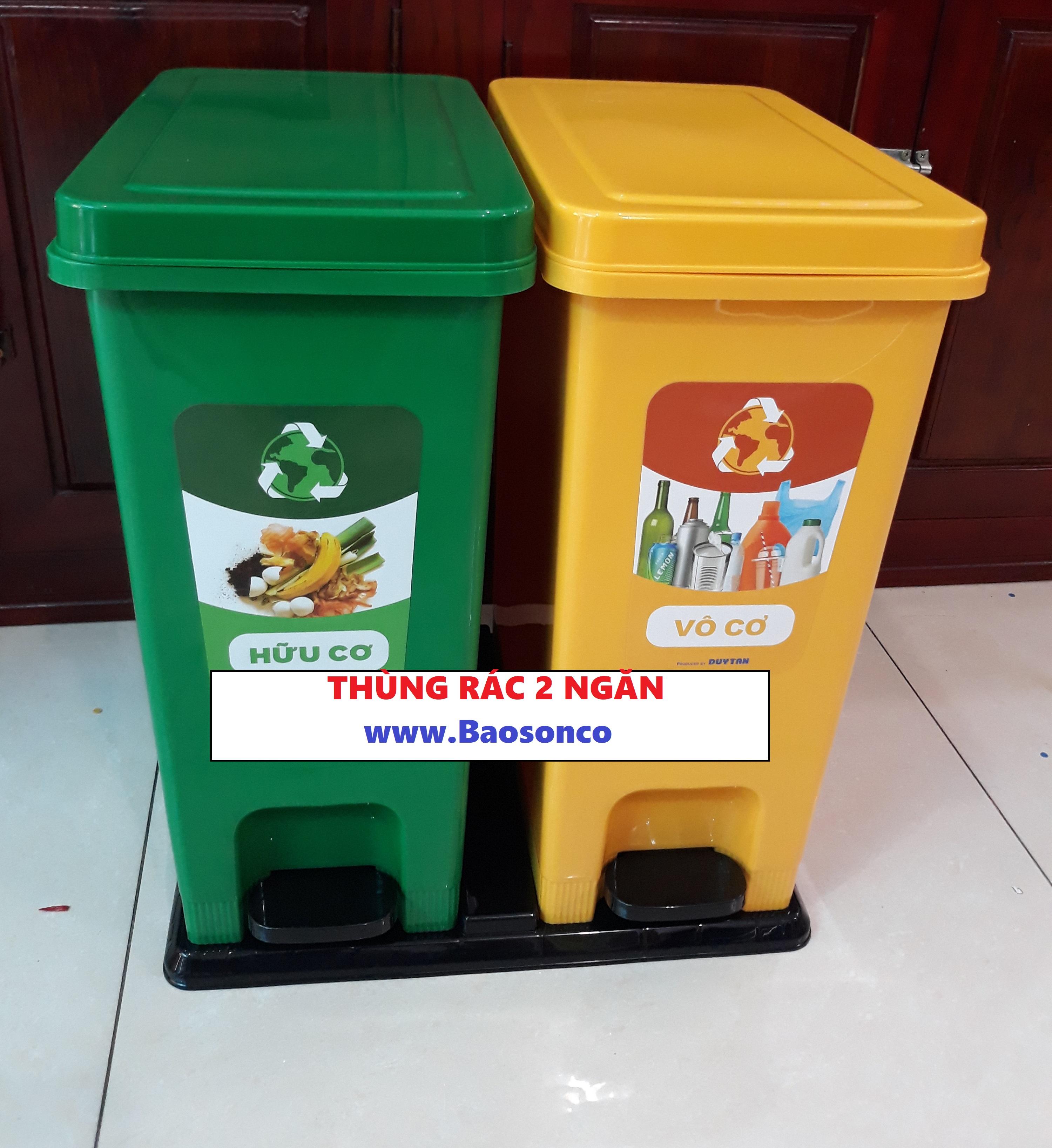 Thùng rác văn phòng 2 ngăn