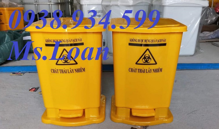 Thùng rác y tế 15l màu vàng