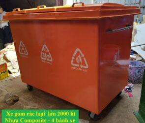 Thùng rác thải công cộng 2000 lit