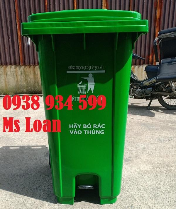 Thùng rác nhựa 240 lít đạp chân
