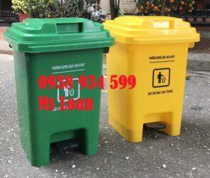Thùng rác y tế 25l đạp chân