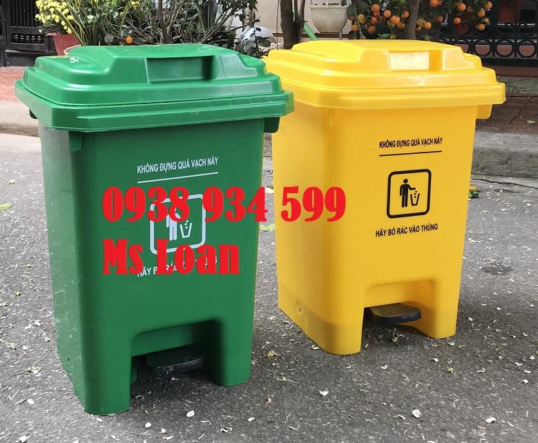Thùng rác y tế 25l đạp chân mẫu mới