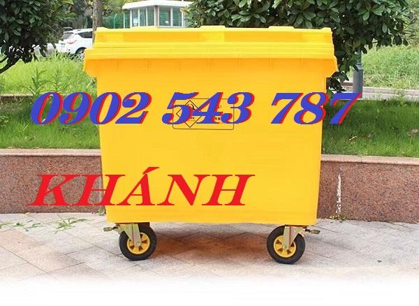 Xe đẩy rác công cộng 660 lít