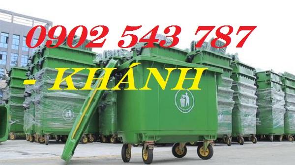 Báo giá Xe đẩy rác công cộng 660 lít