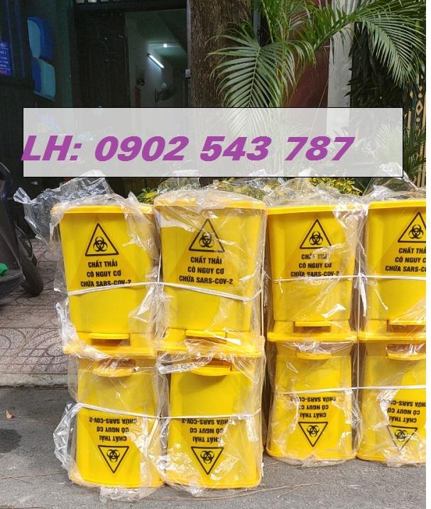 Thùng rác đạp chân y tế 15 lít