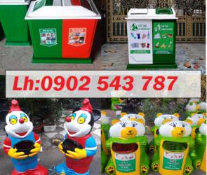 Thùng rác phân loại rác thải thùng rác hình con thú