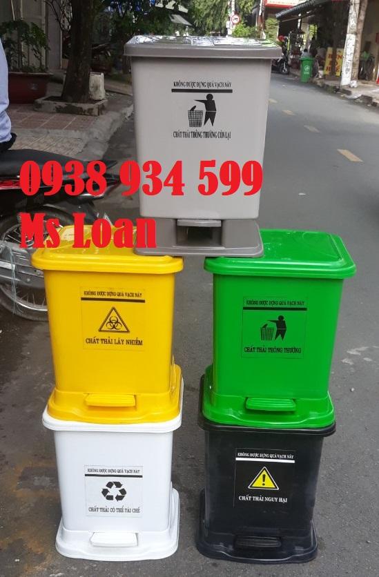 thùng rác y tế đạp chân 25 lít