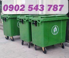 Thùng rác 660 lít nhựa