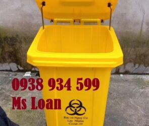 Thùng rác y tế đạp chân 120 lít