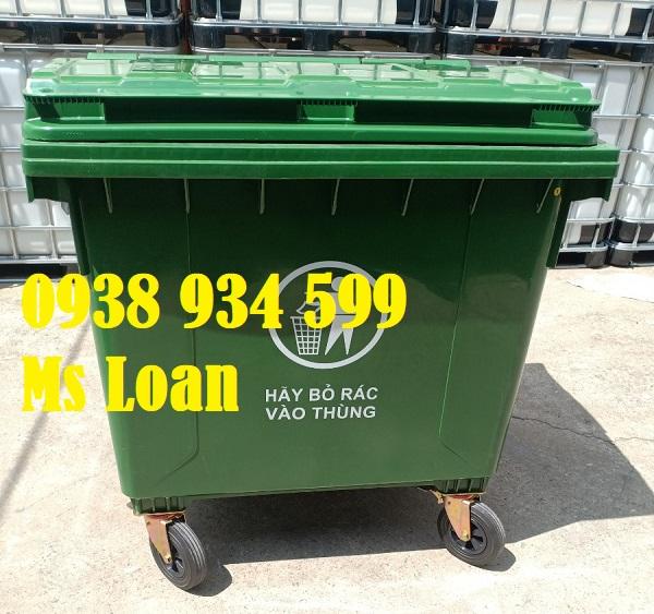 Xe thu gom rác 1000 lít nhựa HDPE