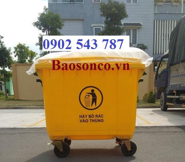 Thùng rác y tếđựng rác có nguy cơ lây nhiễm